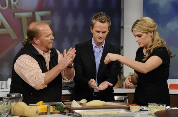 Mario Batali, Neil Patrick Harris & Daphne Oz at Sneak Peek - Neil Patrick Harris Featured on ABC's THE CHEW, 1/16