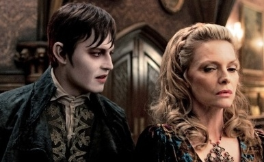 Johnny Depp & Michelle Pfeiffer at First Look - Johnny Depp in Tim Burton's DARK SHADOWS