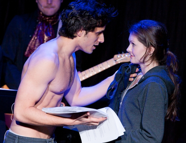 Jared Zirilli and Meghann Fahy at EXCLUSIVE - TWILIGHT: THE MUSICAL Dress Rehearsal