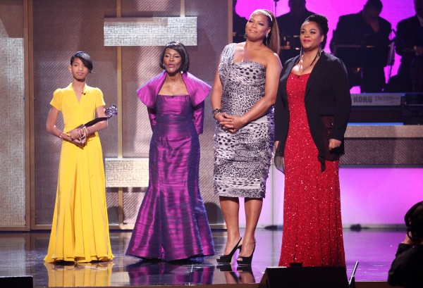 Willow Smith, Cicely Tyson, Queen Latifah and Jill Scott  at BET Honors 2012 Awards Presentation