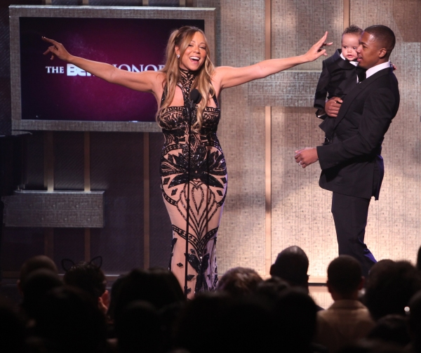 Mariah Carey, Moroccan Scott Cannon & Nick Cannon   at BET Honors 2012 Awards Presentation