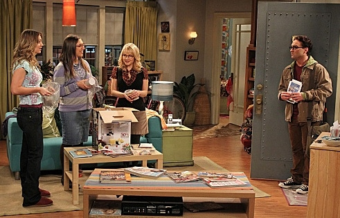 Mayim Bialik, Melissa Rauch, Johnny Galecki & Kaley Cuoco at Sneak Peek - CBS's THE BIG BANG THEORY's 100th Episode, Airing 1/19