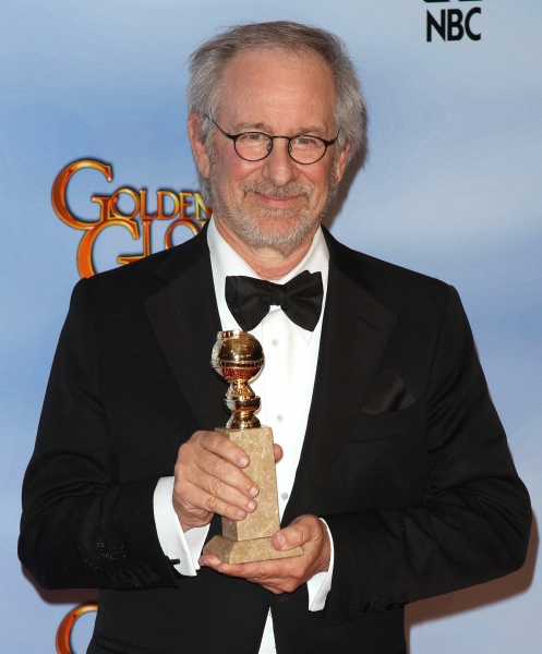 Steven Spielberg pictured at the 69th Annual Golden Globe Awards held at the Beverly Hilton Hotel in Beverly Hills, California on January 15, 2012. © RD / Orchon / Retna Digital.