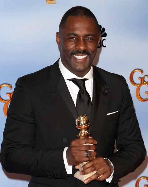 Idris Elba pictured at the 69th Annual Golden Globe Awards held at the Beverly Hilton Hotel in Beverly Hills, California on January 15, 2012. © RD / Orchon / Retna Digital.