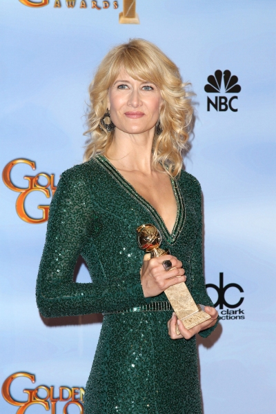 Laura Dern pictured at the 69th Annual Golden Globe Awards held at the Beverly Hilton Hotel in Beverly Hills, California on January 15, 2012. © RD / Orchon / Retna Digital. at 2012 Golden Globe Awards - The Winners!