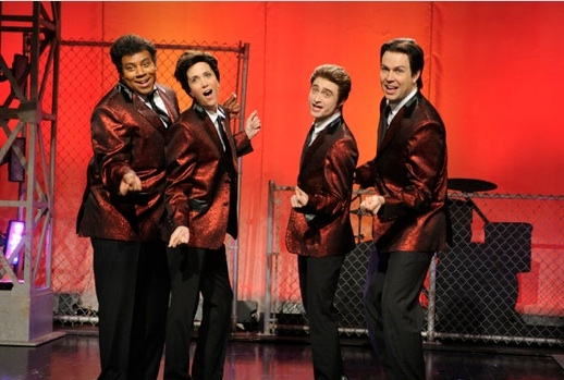 Kenan Thompson, Krisen Wiig, Daniel Radcliffe & Jason Sudeikis at Daniel Radcliffe Hosts SATURDAY NIGHT LIVE