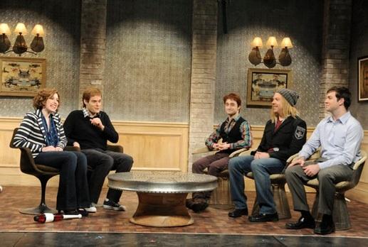 Vanessa Bayer, Bill Hader, Daniel Radcliffe, Jason Sudeikis & Taran Killam at Daniel Radcliffe Hosts SATURDAY NIGHT LIVE