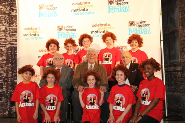 Thomas Meehan, Martin Charnin and Charles Strouse at SMASH Team Supports Junior Theatre Festival