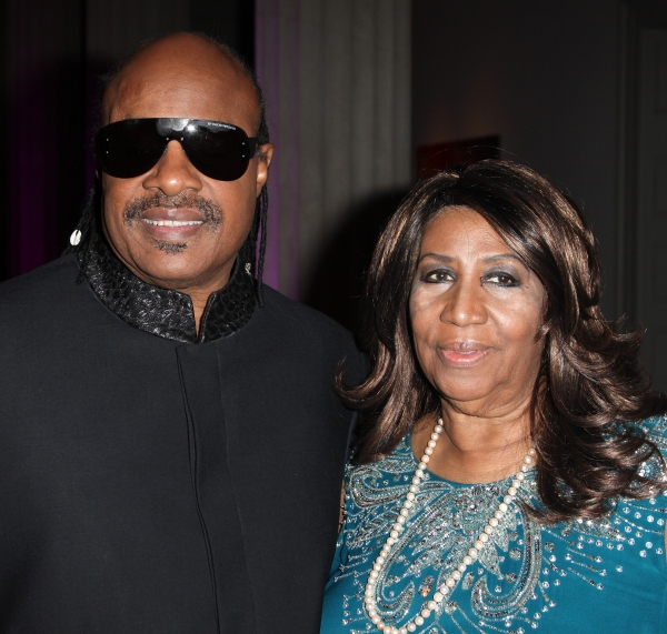 Stevie Wonder & Aretha Franklin at Aretha Franklin, Stevie Wonder, et al. at the 2012 BET Honors