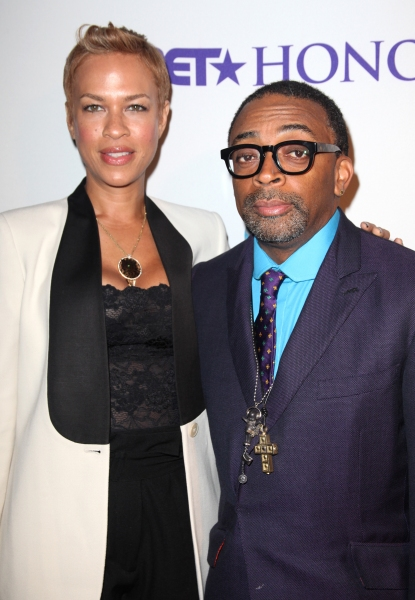 Tonya Lewis Lee and Spike Lee Photo