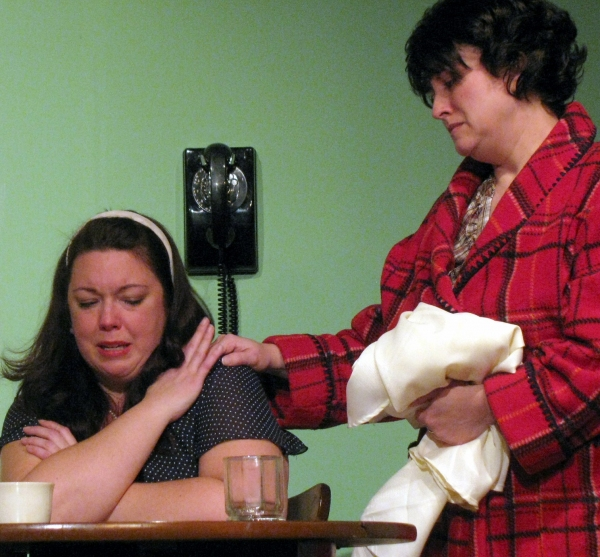 Giz Coughlin and Tami Feist at Actors' NET of Bucks County's Come Back Little Sheba