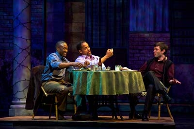 L-R: Daniel Morgan Shelley (Cal), Keith Hamilton Cobb (Andre) and Karl Miller (Iago). Photo