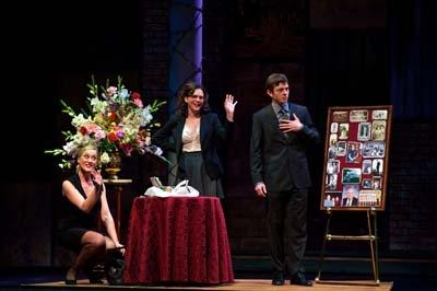L-R: Gardner Reed (Mona), Molly Ward (Julia) and Karl Miller (Iago). Photo by Alexand Photo