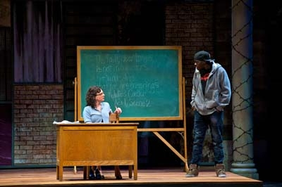 L-R: Molly Ward (Julia) and Terrell Donnell Sledge (Mac). Photo by Alexander Weisman.