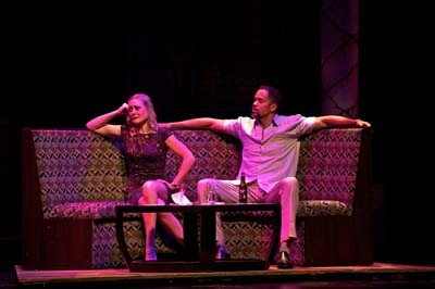 L-R: Gardner Reed (Mona) and Keith Hamilton Cobb (Andre). Photo by Alexander Weisman. Photo