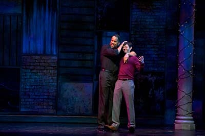 -R: Keith Hamilton Cobb (Andre) and Karl Miller (Iago). Photo by Alexander Weisman.