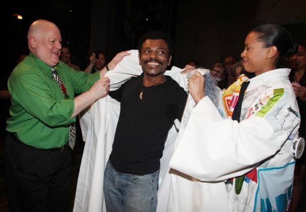 David Westphal, J.D. Webster & Kearran Giovanni (Gypsy Robe Recipient for Hugh Jackman-Back On Broadway)