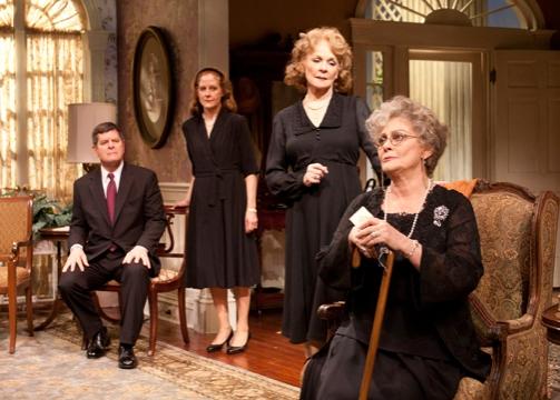 Horton Foote Jr., Hallie Foote, Penny Fuller and Elizabeth Ashley   at Old Globe's DIVIDING THE ESTATE
