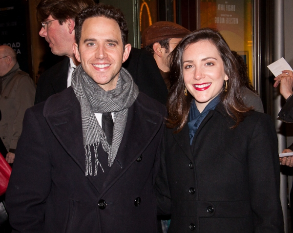 Santino Fontana and Jessica Hershberg at THE ROAD TO MECCA Opening Night Arrivals!