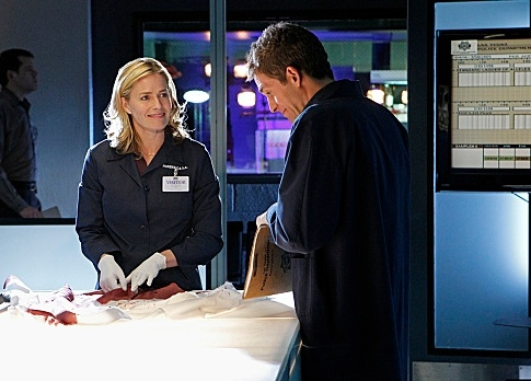 Elisabeth Shue & Eric Szmanda at First Look - Elisabeth Shue Joins the Cast of CBS's CSI, 2/15