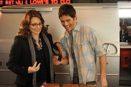 Tina Fey & James Marsden at Sneak Peek - Kelsey Grammer, James Marsden Guest Star on Tonight's 30 ROCK