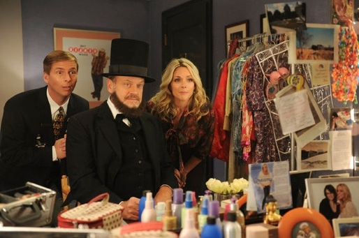 Jack McBrayer, Kelsey Grammer & Jane Krakowski at Sneak Peek - Kelsey Grammer, James Marsden Guest Star on Tonight's 30 ROCK