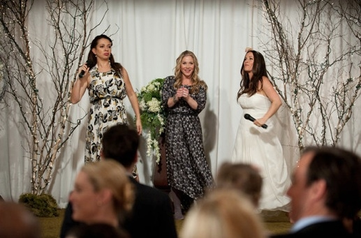 Maya Rudolph, Christina Applegate & Alanis Morissette at First Look - Alanis Morissette Guest Stars on NBC's UP ALL NIGHT, 2/9