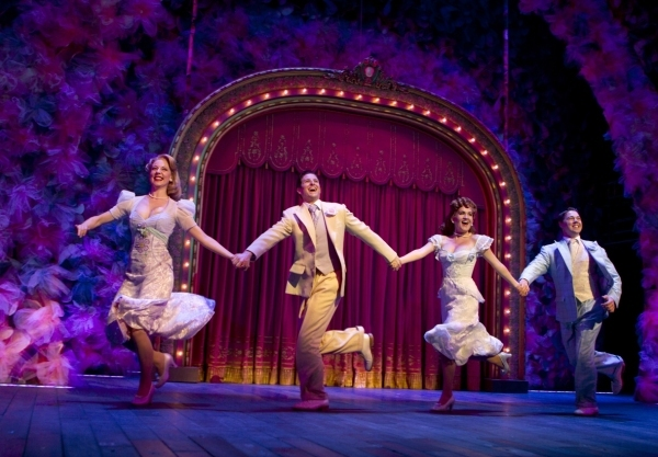 Kirsten Scott, Nick Verina, Lora Lee Gayer and Christian Delcroix  in the Broadway pr Photo