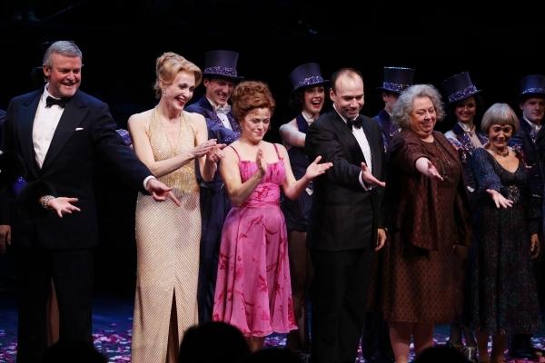 Ron Raines, Jan Maxwell, Bernadette Peters, Danny Burstein, Jayne Houdyshell and Susan Watson on opening night.