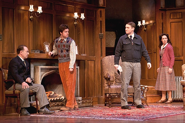 Paul L. Nolan, Eric Bryant, Harry Smith and Jennie Eisenhower at Photo Preview: THE MOUSETRAP At Walnut Street Theater