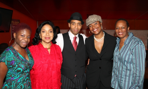 CULVER CITY, CA - JANUARY 22: (L-R) Cast member Kenya Alexander, Director Phylicia Rashad and cast members Kevin T. Carroll, Deidrie Henry and Kim Staunton pose during the party for the opening night performance of Ebony Repertory Theatre's production of