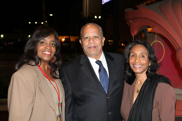 CULVER CITY, CA - JANUARY 22: (L-R) Andi Chapman, Dany Jones and Gayle Hooks, Ebony R Photo