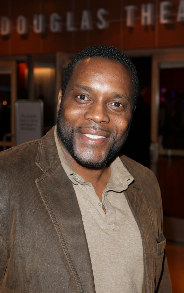 "CULVER CITY, CA - JANUARY 22: Chad L. Coleman poses during the arrivals for the opening night performance of Ebony Repertory Theatre's production of ""A Raisin in the Sun"" at Center Theatre Group / Kirk Douglas Theatre on January 22, 2012 in Culver C"