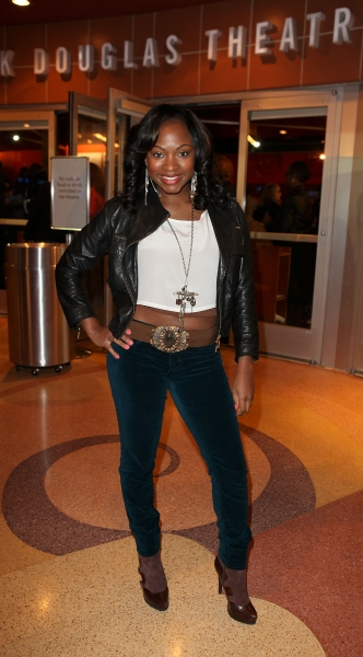 CULVER CITY, CA - JANUARY 22: Naturi Naughton poses during the arrivals for the opening night performance of Ebony Repertory Theatre's production of 'A Raisin in the Sun' at Center Theatre Group / Kirk Douglas Theatre on January 22, 2012 in Culver at A RAISIN IN THE SUN Opens at CTG/Kirk Douglas Theatre