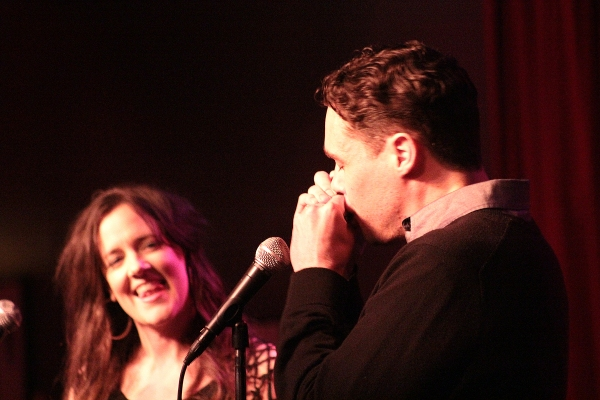Karen Walsh and Matthew Greer at Reeve Carney, Dylan Baker & More in Birdland's We're Gonna Have to Ask You to Leave...Cancer Benefit
