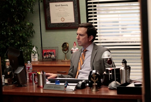 Ed Helms at Sneak Peek - Angela Welcomes Her Baby on NBC's THE OFFICE, 2/2