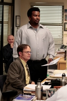 Creed Bratton, Rainn Wilson & Craig Robinson at Sneak Peek - Angela Welcomes Her Baby on NBC's THE OFFICE, 2/2