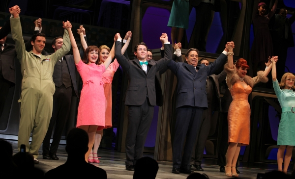Michael Urie, Rose Hemingway, Nick Jonas, Beau Bridges, Tammy Blanchard & Mary Faber  at Nick Jonas & Michael Urie Take Premiere Bow in HOW TO SUCCEED IN BUSINESS WITHOUT REALLY TRYING!