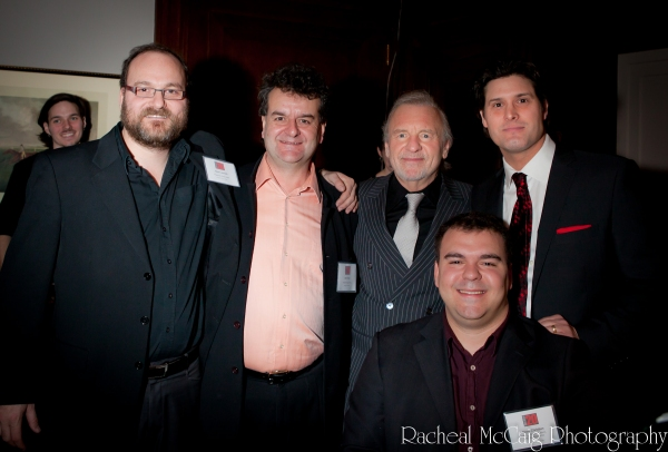Jason Jestadt, Bob Foster, Colm Wilkinson, Adam Brazier and Scott Christian Photo