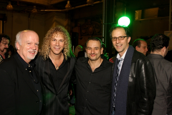 Alley Theatre Artistic Director Gregory Boyd, David Bryan, Joe DiPietro and Director John Rando at THE TOXIC AVENGER Opens in Houston!