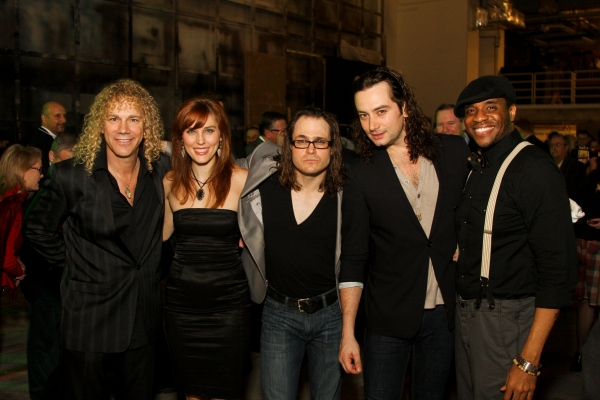 David Bryan, Mara Davi, Mitchell Jarvis, Constantine Maroulis and Antoine L. Smith at THE TOXIC AVENGER Opens in Houston!