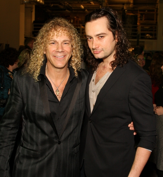 David Bryan and Constantine Maroulis  at THE TOXIC AVENGER Opens in Houston!