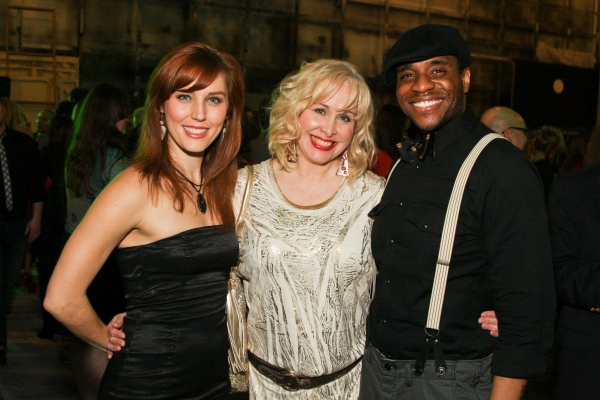 Mara Davi, Nancy Opel and Antoine L. Smith at THE TOXIC AVENGER Opens in Houston!