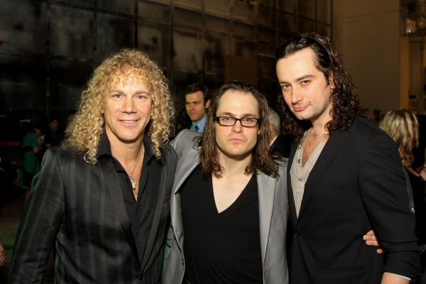 David Bryan, Mitchell Jarvis  and Constantine Maroulis   at THE TOXIC AVENGER Opens in Houston!
