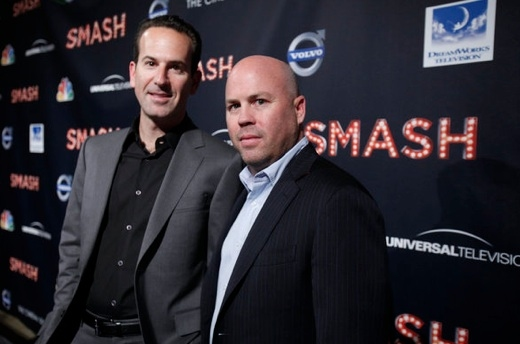 Darryl Frank & Justin Falvey at Last Night's World Premiere of NBC's SMASH