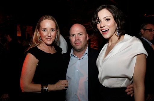 Jennifer Salke, Justin Falvey & Katharine McPhee at Last Night's World Premiere of NBC's SMASH