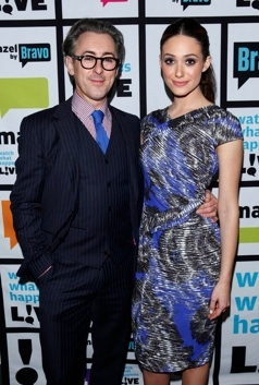 Alan Cumming & Emmy Rossum at Alan Cumming, Emmy Rossum Visit Bravo's WATCH WHAT HAPPENS LIVE
