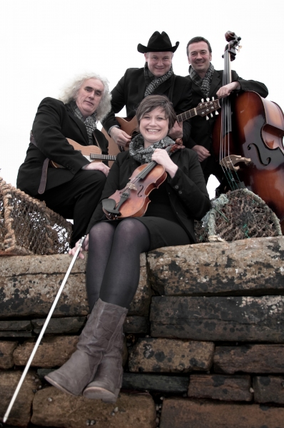 Lone Star Swing Band members Dick Levens, Duncan McLean, Iain Tait and Lynda Anderson Photo