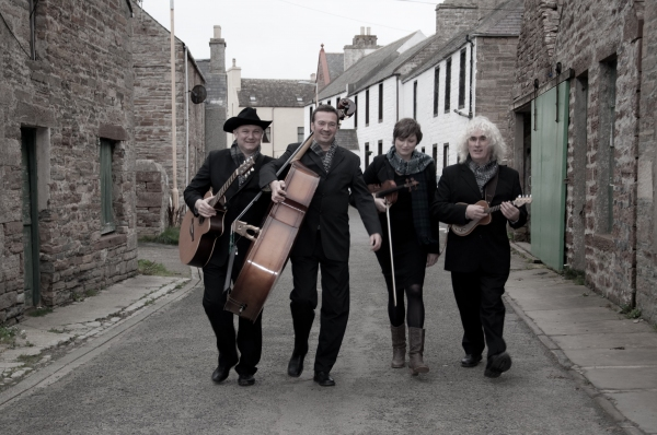 Lone Star Swing Band members Duncan McLean, Iain Tait, Lynda Anderson and Dick Levens