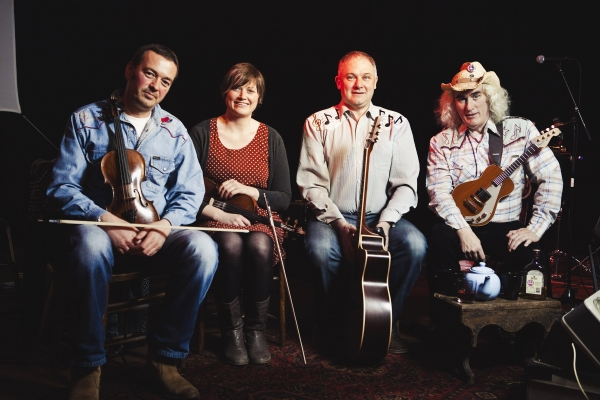 Lone Star Swing Band members Iain Tait, Lynda Anderson, Duncan McLean and Dick Levens Photo
